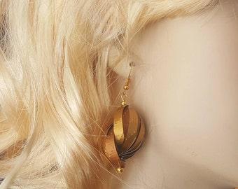 "Earrings ""Eva"" made by aluminum nespresso coffee capsules"
