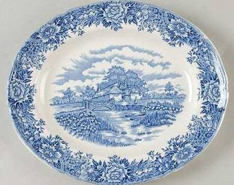 Salem China Co. English Village 12 in Platter