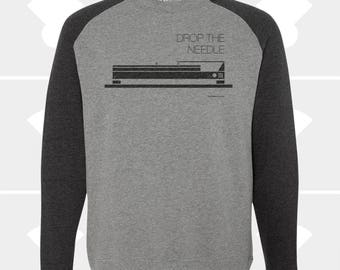 Drop the Needle - Crewneck Raglan Sweatshirt