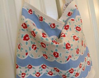Market Tote vintage retro tablecloth fabric Flea Market handbag RDT FVGteam ECS OFGteam SVFteam