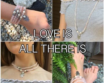 LOVE - DIY Gemstone Mala Beads Kit - String Your Own Mala Beads