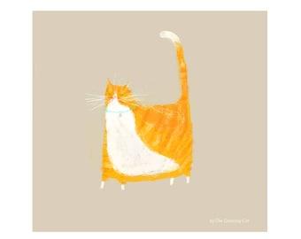Little Orange Tabby Cat Print - Cat Painting