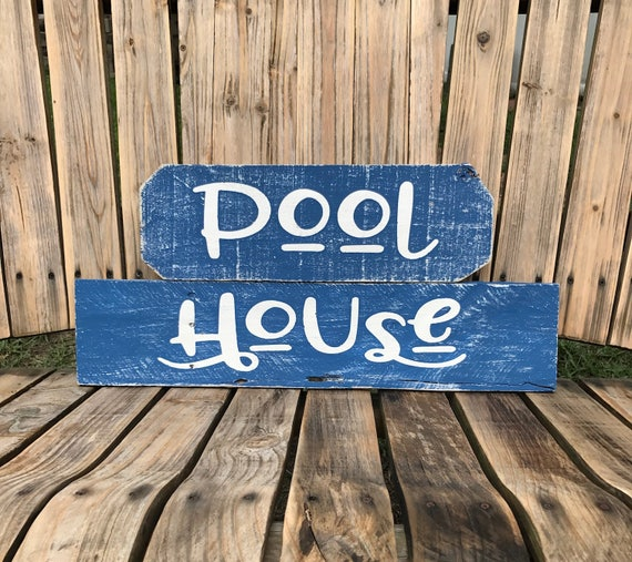 Swimming Pool Plaques Signs Wall Decor: Justforupersonalized