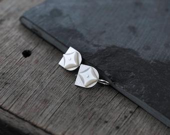 Star Studded Silver Tulips 01 earrings