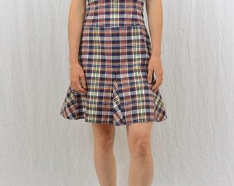 Vintage Plaid Mini Dress, Size Medium, Tommy Hilfiger, 90's Clothing, Clueless, Y2k, Summer Dress, Tumblr Clothing, Punk