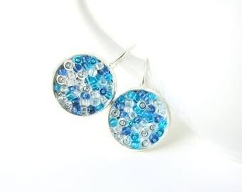 Blue earrings - blue drop earrings - light blue dangle earrings