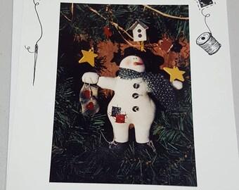 Snowman Garland Vintage Pattern -  by Sweet Gatherings