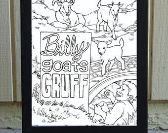 DIGITAL FILE- Billy Goats Gruff
