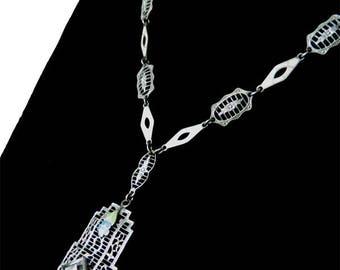 Vintage 1920s Art Deco Pendant Necklace