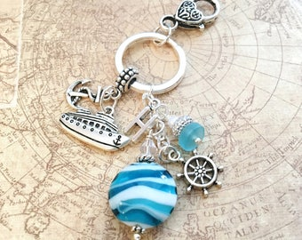 Cruise Keychain Cruise Gifts for Women Girls Trip Gifts Girls Cruise Travel Gifts Bachelorette Cruise Party Favors Ship Wedding Favors