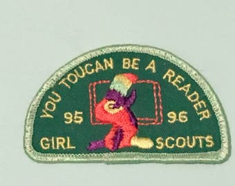 1990s Girl Scout Patch - You Toucan Be a Reader