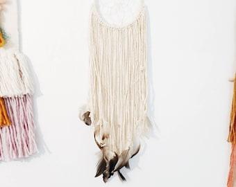 Dreamcatcher / Off-white Dreamcatcher / Hand-made Wall Hanging