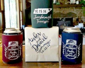 Mason Jar, Wedding Favors, Mason Jar Wedding, State Wedding Favor, Custom Favors, Party Favors, Personalized Favors, Wedding Can Coolers