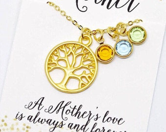 Gifts for Mom from Daughter Personalized Gift for Grandma Personalized Jewelry Gold Gift Initial Necklace Gold Jewelry Gifts Limonbijoux