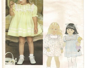 Little Vogue 2897 Toddlers Girls Dress Pattern and Panties Sewing Patterns Size 4 Chest 23 Height 40 inches Ribbon Lace Ruffles