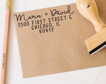 Return Address Stamp, Wedding Stamp, Save the Date Stamp, Return Address Stamp, Custom Rubber Stamp, Rubber Stamps, Calligraphy Stamp