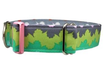 "Modern Dog Collar 1"", 1.5"" or 2"" Wavy Stripe Dog Collar Buckle or Martingale Style Collar"