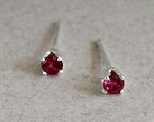 Garnet Stud Earrings-Garn...