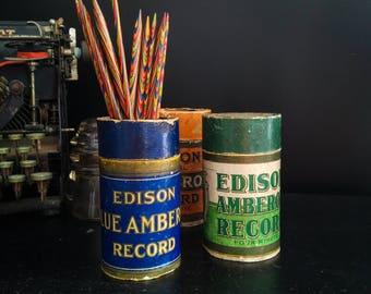 Antique Edison Record Set