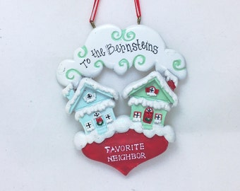 Favorite Neighbor Personalized Christmas Ornament / New Home Ornament / Home for the Holidays / Neighbors Ornament
