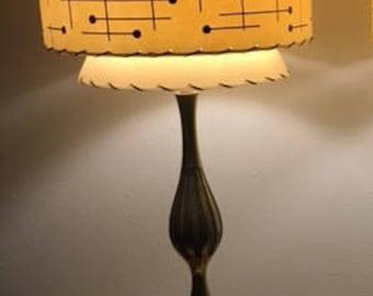 Mid century style 3 tier fiberglass lamp shade retro modern mid century vintage style tapered 3 tier fiberglass lamp shade atomic ivory 3 mozeypictures Gallery