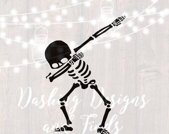 DIGITAL DOWNLOAD Halloween svg - Dabbing Skeleton svg - skeleton svg - halloween shirt - Cutting File - png - bones - trick or treat