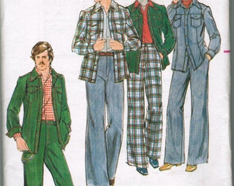 VINTAGE BUTTERICK 4420 Men's Shirtjacket and Pants SIZE 40