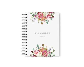 Blush Planner, Blush Weekly Planner 2018, Blush Monthly Planner 2018, Custom Planner Cover, Goal Planner, Custom Planner SKU: PL005
