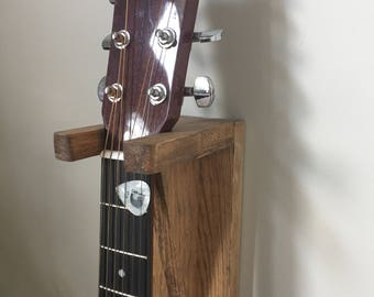 Wooden Wall Mounted Guitar Stand