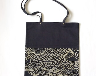 Birdingbury Tote Bag in Black Canvas