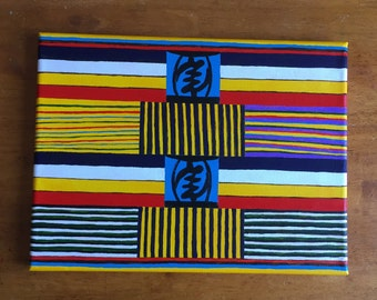 West African Kente Painting