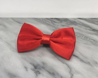 Red Dog Bowtie for Wedding Pet Outfit  Wedding Dog Bow Tie Dog Collar Holiday Christmas Bow Tie