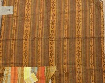 "Vintage Schumacher Fabric Sample 1960s -1970s Colorways 27"" x 25"" -S2B11"