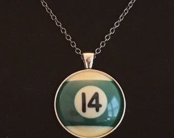"""Necklace - # 14 Pool Ball  (16""""-24"""")"""