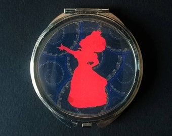 "Pocket or Bag Mirror ""Queen of Heart"" Alice in Wonderland"