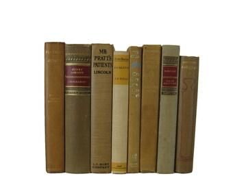 Brown Antique Books,  Farmhoouse Vintage Books,  Decorative Books , Wedding Prop , Photo Prop ,  Vintage Books , Old Books