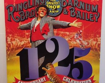 125th Anniversary Ringling Brothers Barnum & Bailey Circus Program Brochure Book