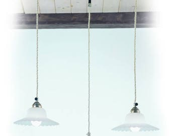Three Light Italian Pendant, Pendant, Pendants,