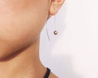 Half Moon Dangling Earrings, Geometric Earrings, Modern Earrings, Minimalist Earrings, Gold Drop Earrings, Silver Drop Earrings