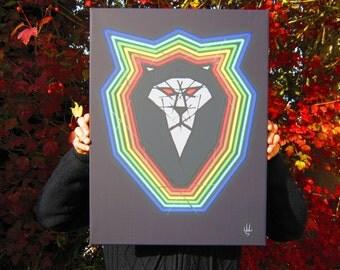 Rainbow Lion - table 60x45cm - SAD Project / Color Side