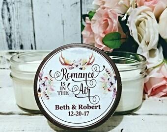 Boho Wedding Favor - Wedding Favor Candles - Antler Favor - Rustic wedding Candle Favors - Teepee Wedding - Soy Candle Wedding Favor