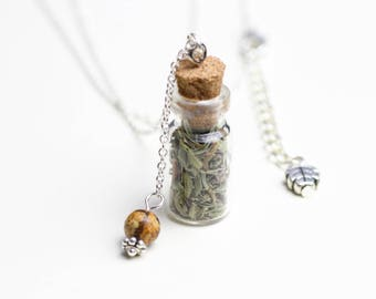 Vegetable necklace Jasper bead