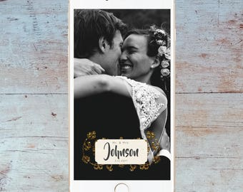 Wedding Snapchat Geofilter - Flourish - Custom filter