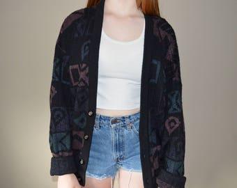 Oversized Vintage Knit Cardigan