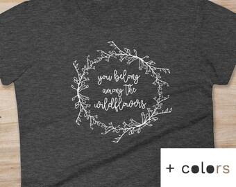 Tom Petty shirt, Wildflowers shirt, womens t-shirt, hiking shirt, camping shirt, girlfriend gift, hiking top, colorado gift, Petty lyrics