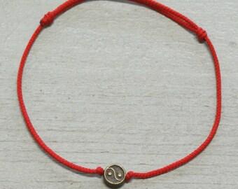 Yin Yang Bracelet Yin Yang Jewelry Ying Yang Jewelry Zen Bracelet Red String Bracelet Red String Of Fate Red Bracelet String Bracelet Thread