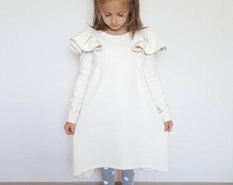 White winter dresses girls