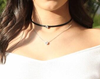 Divna - double necklace Choker