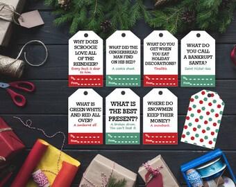 Holiday Gift Tags - Printable Puns