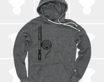 Fly Fishing Rod - Unisex Hoodie